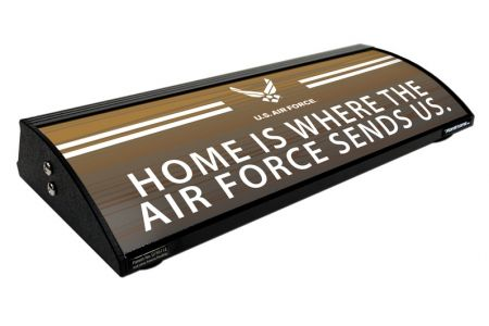 "HOME IS WHERE THE AIR FORCE SEND US (18"")"
