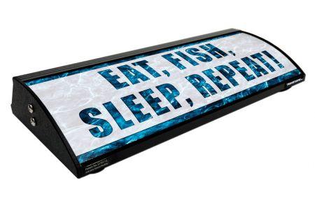 "EAT, FISH, SLEEP, REPEAT! (18"")"