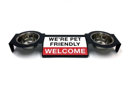 (P4P) We're Pet Friendly / Welcome - Combo Set (Double Mounts) (R/W)