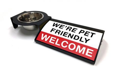 (P4P) We're Pet Friendly / Welcome - Combo Set (Left Mount) (R/W)