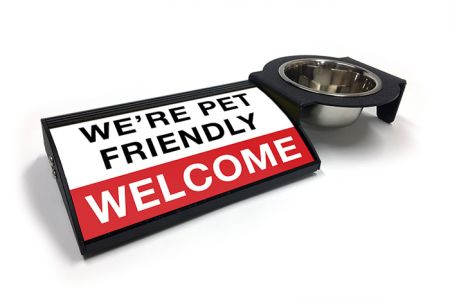 (P4P) We're Pet Friendly / Welcome - Combo Set (Right Mount) (R/W)