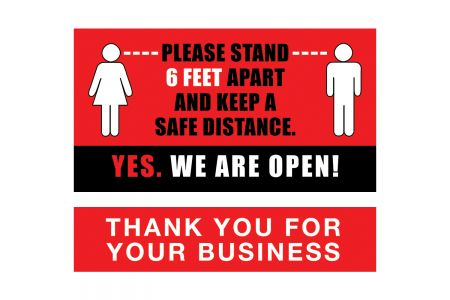 (P4P) Please Stand 6 Feet Apart and Keep a Safe Distance / YES!  WE ARE OPEN!
