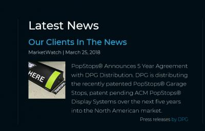 PopStops Signs 5 Year Agreement with DPG Distribution
